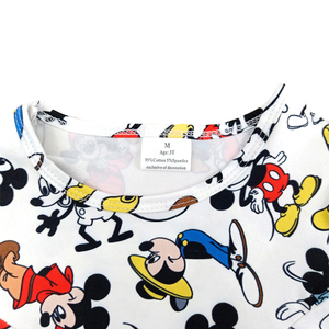 Image 2 - 2020 New Designs Spring/Summer Baby Girls Pearl Dress Cute Mickey Printed Clothes Toddlers Milk Silk Casual Dresses Wholesales