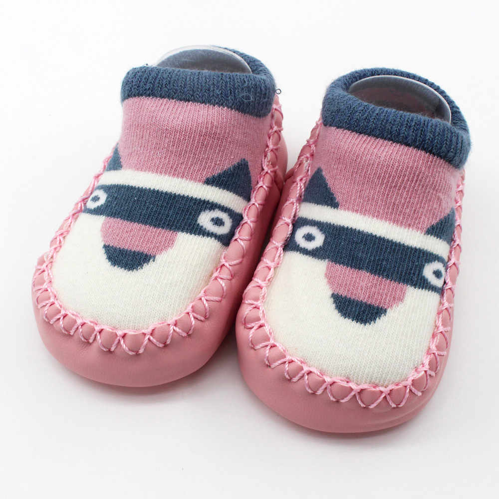 Neue Baby Mädchen Junge Kleinkind Anti Slip Schuhe Kinder Booties Cartoon Slipper Socken Stiefel Neugeborenen Winter Warme Baumwolle Boden Socken 0-5T