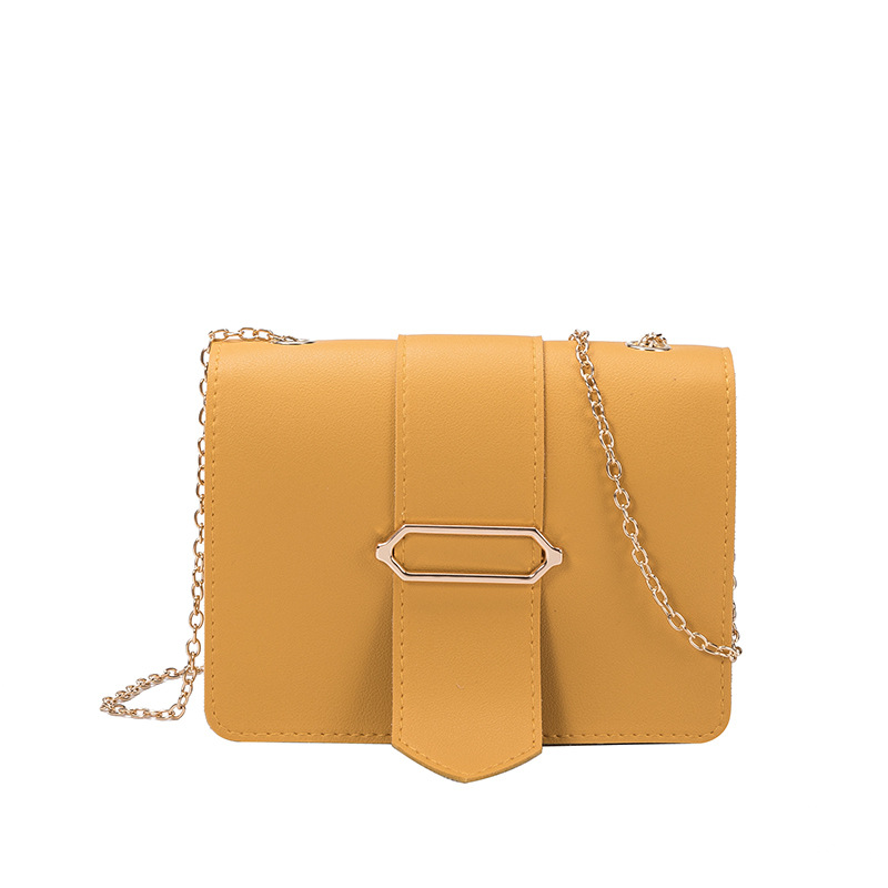 2020 New Style Korean-Style Bag Cover One Shoulder Cross Tongue Small Square Bag Fashion All-match Chain Phone Bag