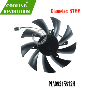 Graphics Fan PLA09215S12H DC12V 0.55A 2PIN for EVGA GEFORCE GTX 750 Ti SC MINI ideo Graphics card cooling fan фото