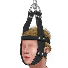 BDSM Gay Torture Toy Head Bondage Harness Belts Leather Fetish Slave Head Fixed Posture Restraints Cuffs Sex Tools for Men Women(China)