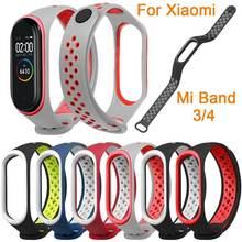 Дышащий ремешок для xiaomi mi band 4 силиконовый на запястье