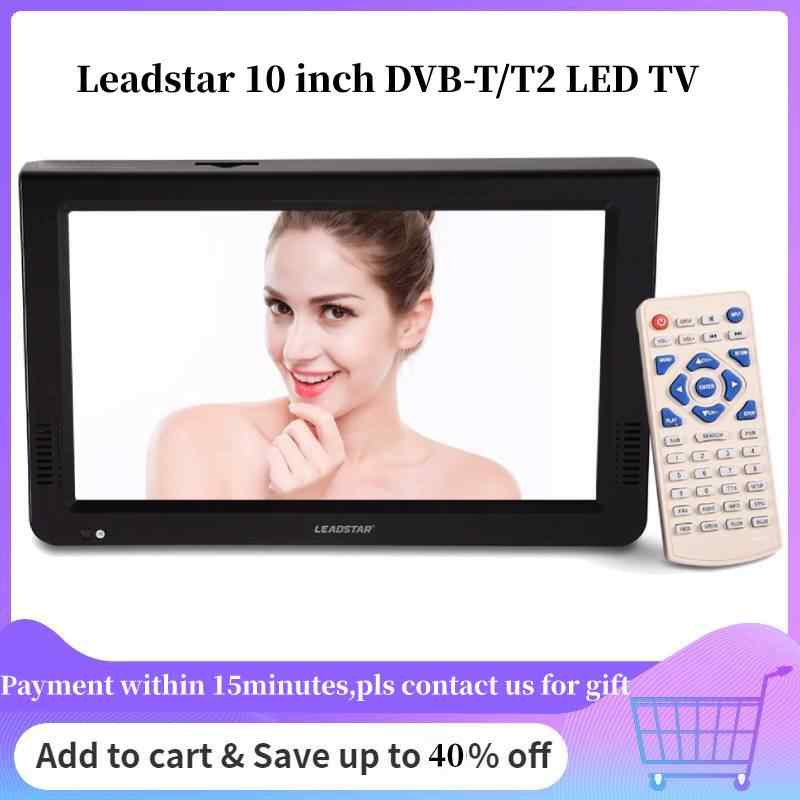 LEADSTAR 10 inch TV Portable TV DVB-T DVB-T2 ATSC ISDB-T Digital Analog Television Televizyon For Car TV LED Tv Portatil Mini TV
