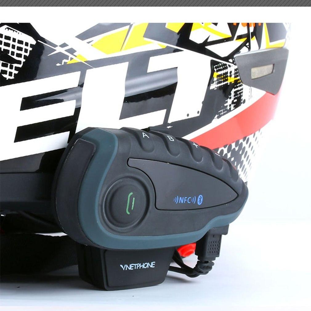 V8 Motorcycle Helmet Bluetooth Interphone Wireless Motorcycle Bluetooth Walkie-talkie Support 5 People