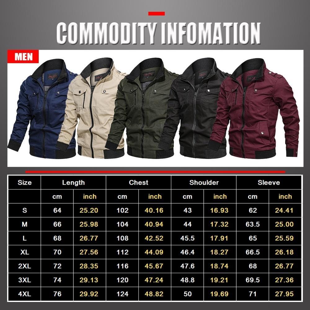 2020 Military Jacket Men Spring Autumn Cotton Windbreaker Pilot Coat Army Men's Bomber Jackets Cargo Flight Jacket Male Clothes 6