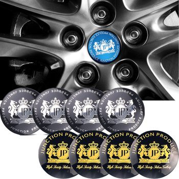 For JP Wheel Stickers For Acura Skoda Audi Toyota Lexus Benz Hyundai Suzuki Swift Seat Rim Center Hub Caps Emblem Car-Styling image