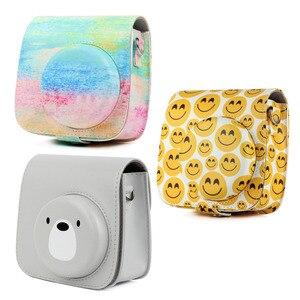Image 2 - Besegad PU Leder Kamera Fall Halter Tasche mit Schulter Gurt für Fujifilm Instax Mini 8 8 + 9 Instant Kamera tasche Zubehör