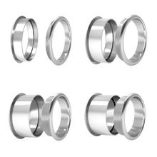 Legenstar paslanmaz çelik taban yüzük kombinasyonu yüzük dönebilen değiştirilebilir aksesuarları takı hediye yüzük