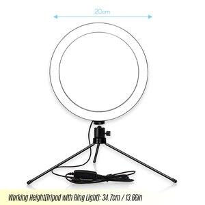 Image 4 - 6/8/10 インチ led リングライト iphone xs 最大 8 7 6 スマートフォン写真撮影メイク 3200  5600 18k 輝度調節可能な三脚スタンド