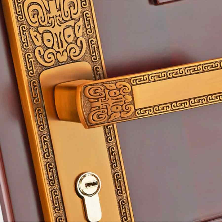 אירופאי חדר שינה אלומיניום סגסוגת בתוך מכאני דלת בית מנעול שקט עם מפתחות deurklink אסם דלת מנעול