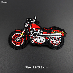 Red Motorcycle Patches Iron on