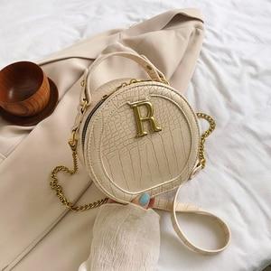 Stone Pattern PU Leather Round