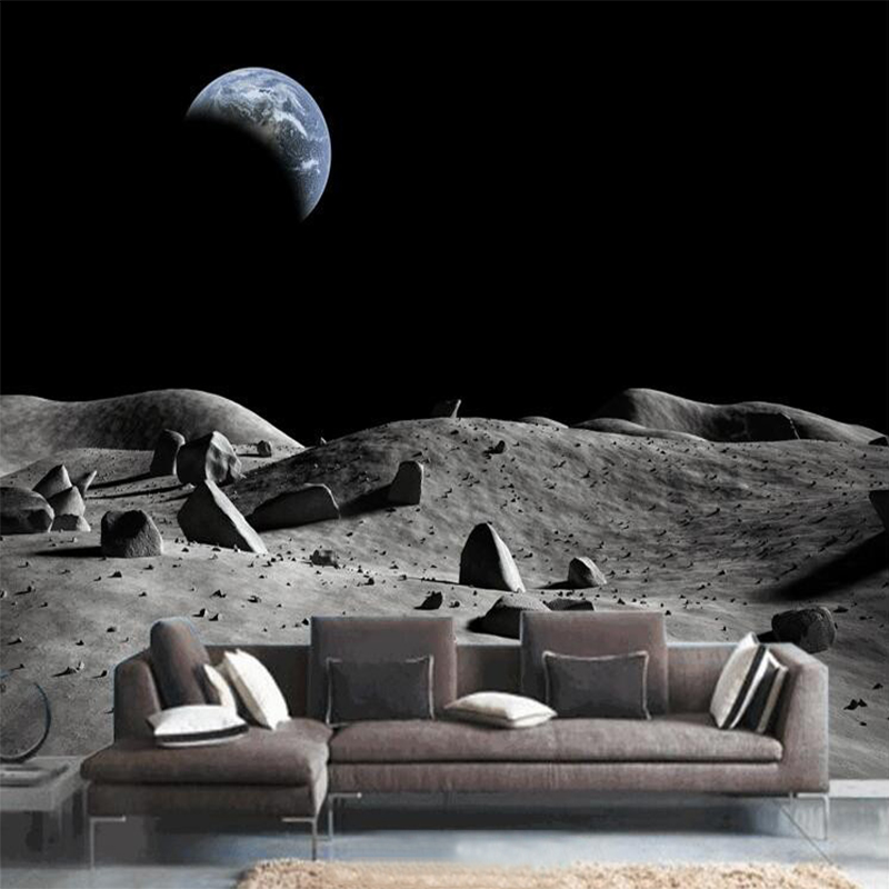Dropship Personalized Customization 3D Stereo Space Moon Nature Wallpaper Restaurant Clubs Modern Decor Mural 3D Panel Wall