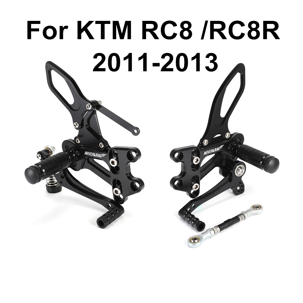 For KTM RC8 RC8R 2011 2012 2013 Motorcycle Footrests Rear Foot Pedal Pegs Accessories Aluminum CNC Foot Rest D49