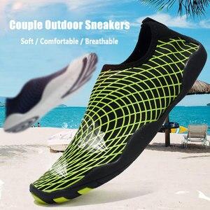 Image 1 - שכשוך שחייה נעליים בחוץ במעלה הזרם חוף נעליים קל משקל רך לנשימה neoprene צלילה נעלי לנשים גברים מים ספורט