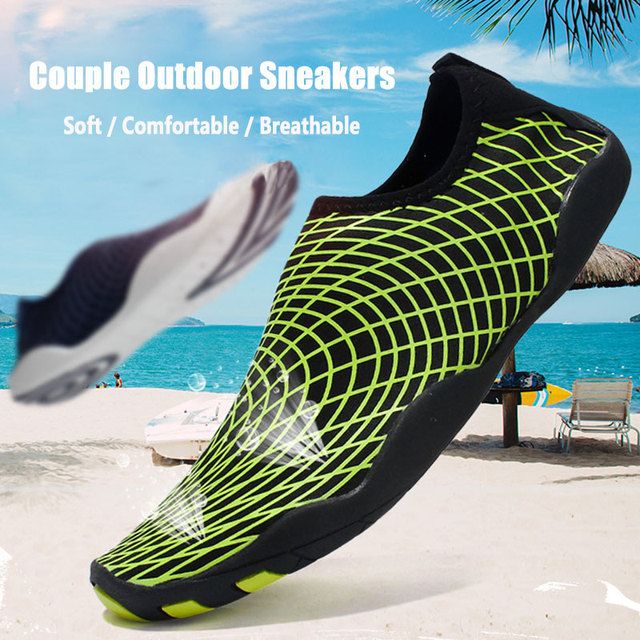 שכשוך שחייה נעליים בחוץ במעלה הזרם חוף נעליים קל משקל רך לנשימה neoprene צלילה נעלי לנשים גברים מים ספורט
