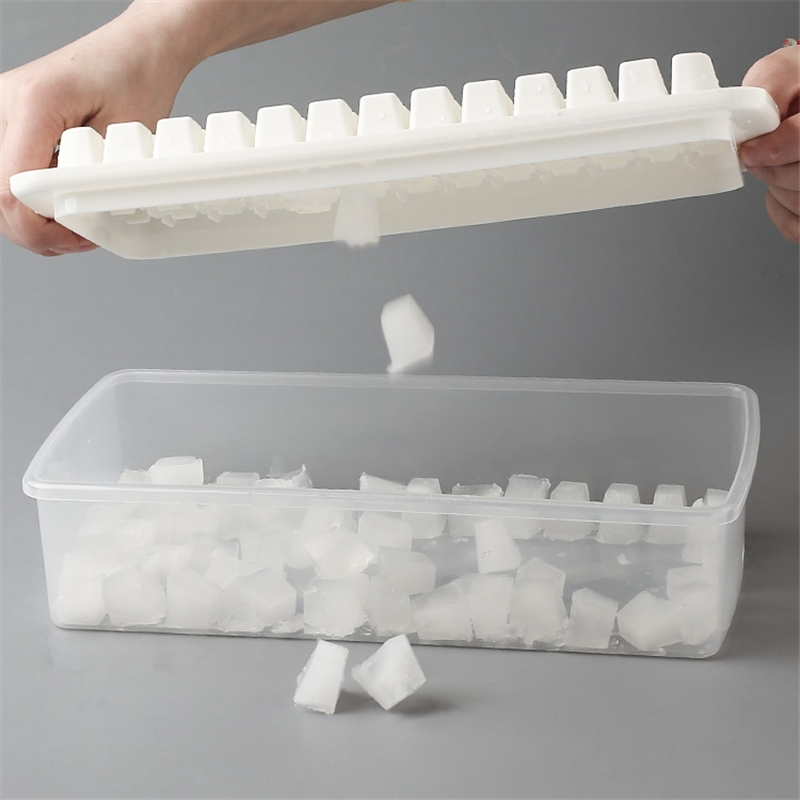 98 Grids Small Ice Cube Mould Box With Lid & Scoop Popsicle Molds Maker Tray Ice Cream DIY Tool Bar Kitchen Accessories
