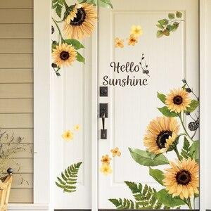 Sunflower Wall Stickers Glass