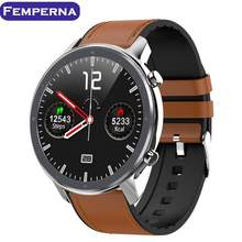 Femperna L11 Smart Watch Men ECG Heart Rate Monitor Full Round Touch Smartwatch IP68 Waterproof Music Control VS DT78(China)