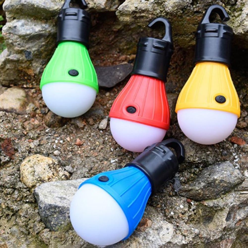 Mini Portable Lantern Tent Light LED Bulb Waterproof Hanging Hook Flashlight For Camping