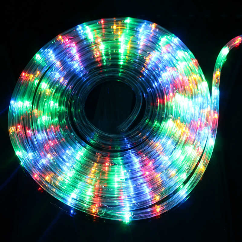 8 Modes Led Rainbow Tube Fairy Neon String Light RGB Garland Outdoor lighting String With EU Plug For Xmas Festival Party decor