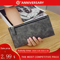 2020 new womens long wallets female fashion PU leather zipper clutch wallet Coin Purses Mobile Phone Bags Lady Card & ID Holders