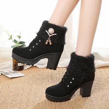 Classic Women Winter Boots for Suede Ankle Snow Boots Female Warm Fur Plush Insole High Quality Botas Mujer ladies shoes woman цена в Москве и Питере