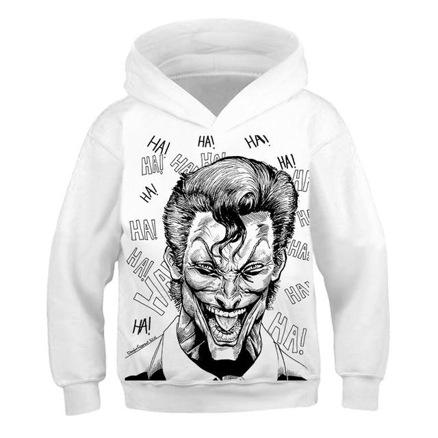 Sweat-shirt Joker Movie 3D pour garçons filles   Sweat-shirt à capuche pour garçons et filles, vêtements pour garçons