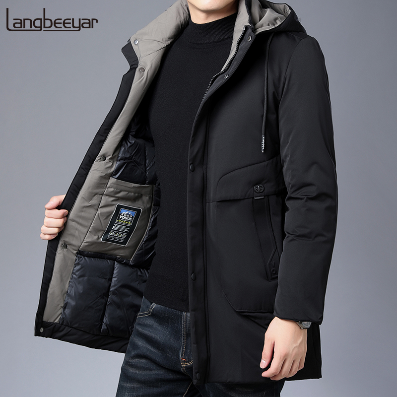 2020 Winter Fashion Brand Jacket Mens Thick Hooded Streetwear Parkas Quilted Jacket Korean Puffer Bubble Coat  Men Clothing