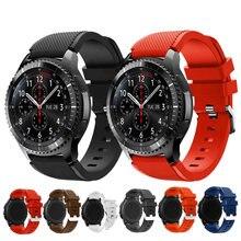 22 мм силиконовый ремешок для samsung galaxy watch 46 высококачественный