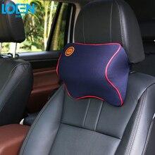 Удобная подушка для шеи с эффектом памяти, подголовник, Массажная подушка для отдыха, подголовник, подушка для автокресла, поддержка для 95% автомобилей, офисное кресло