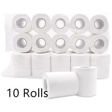 10 Rolls 4 Layer Home Bath Paper Toilet Paper White Toilet Paper Skin-friendly Paper Towels Tissue 20#328
