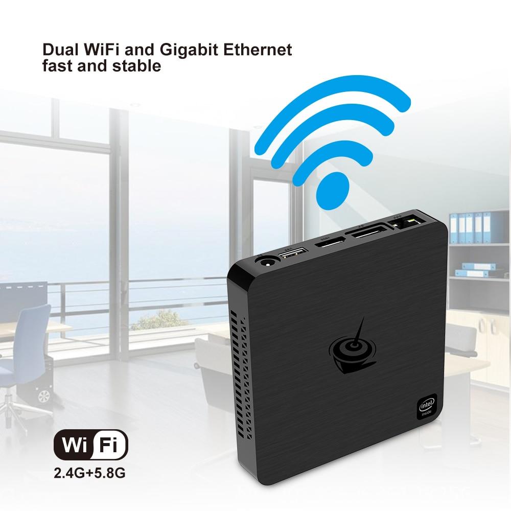 Beelink t4 mini caixa de tv pc intel atom x5 Z8500 windows 10 novo desktop 4 gb + 64 gb 2.4/5.8 ghz wifi bt4.0 hdmi + dp dupla exibiçãoMini-PC   -
