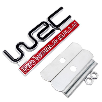 For WRC Logo 3D Car Styling Front Stickers Metal Grille Emblem Badge for Nissan Dodge ram Ford fiesta KIA Volvo BMW e46 Audi a4 image