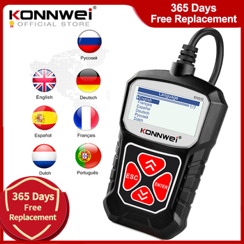 KONNWEI KW310 OBD2 Scanner for Auto OBD 2 Car Scanner Diagnostic Tool Automotive Scanner Car Tools Russian Language PK Elm327 1