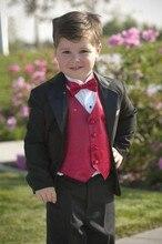 3 Pcs Black Toddler Boys Suits Wedding Formal Children Suit Tuxedo Dress Party Ring bearer H009 page boy 3 piece suits new design black velvet wedding tuxedo party child suits