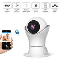 Minicámara de seguridad para el hogar, WiFi, 1080P, inalámbrica, Visión Nocturna exterior, CCTV, panorámica, Monitor para bebés