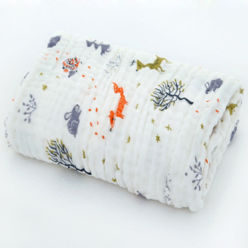 cotton baby bath towel forest