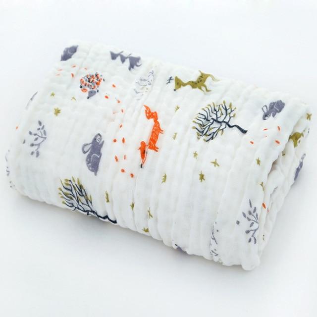 cotton baby bath towel forest