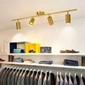 Современная светодиодная медная потолочная лампа  вращающаяся светодиодная дорожка для магазина  алюминиевое точечное освещение для мага...