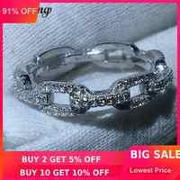 Choucong Luxus Schmuck Kette Stil 100% Reale Soild 925 sterling Silber ring AAAAA Zirkon Hochzeit Band Ringe Für Frauen männer geschenk