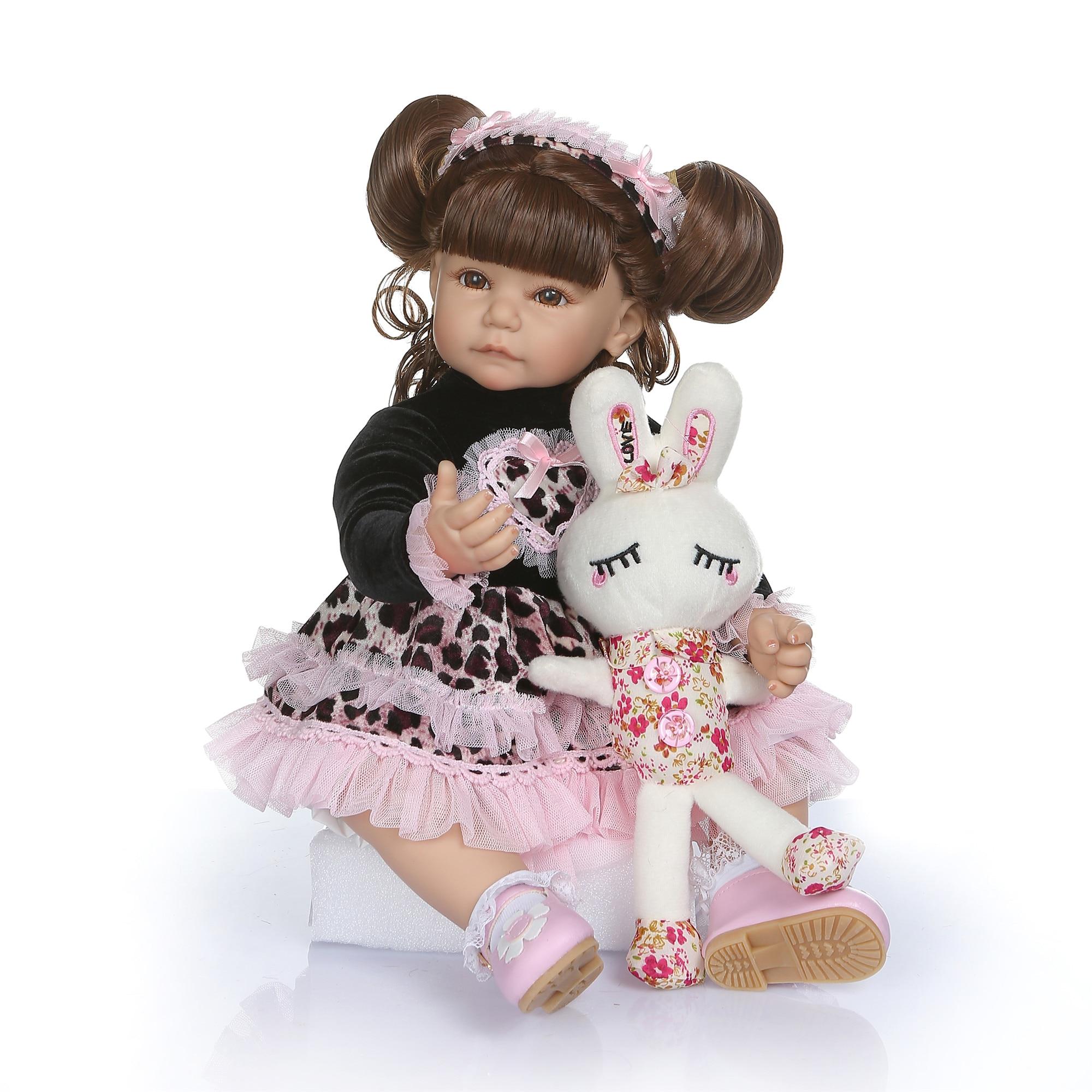 NPK 50cm doux coton corps Silicone nouveau-né bébé poupée comme vraie fille bebe reborn jouet lol poupées pour fille cadeau d'anniversaire jouer jouet