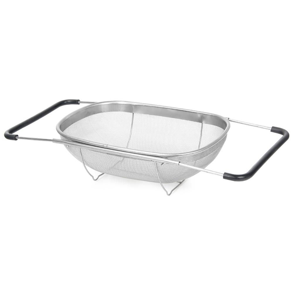 Pull Retractable Drain Basket Rack Stainless Steel Sink Dish Rack Vegetables Basket Kitchen Sink Accessories 40