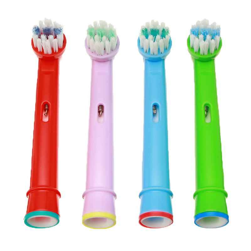 4pcs Replacement Kids Children Colorful Tooth Brush Heads/Nozzle for oral B EB-10A Pro-Health Stages Electric Toothbrush image