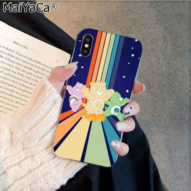 MaiYaCa Cute cartoon Care Bears Luxury  Phone Cover for Apple iphone 11 pro 8 7 66S Plus X XS MAX 5S SE XR Coque Shell