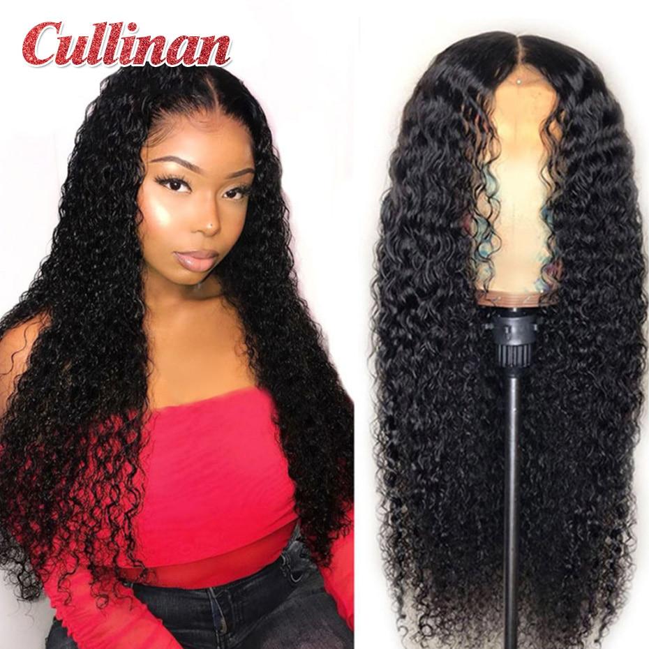 Бразильские кудрявые человеческие волосы, парики для черных женщин, Remy, предварительно выщипанные волосы, парики на сетке 4x4, куллиновые вол...