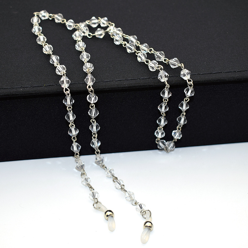 2020 Fashion Chic Luxury Crystal Eyeglass Chains Red Black Crystal Glasses Chain For Ladys Sunglasses Lanyard Strap Accessories