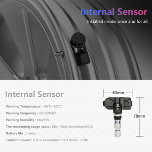 Image 3 - USB Android TPMS Tire Pressure Monitoring System Display 5V 4 Internal Sensors Android Navigation Car Radio Summer/Winter Tire