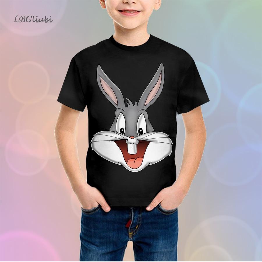 Bugs Bunny LBG new 3D printing childrens shirts fashion casual boys shirt and girls Sweatshirt baby T-shirt