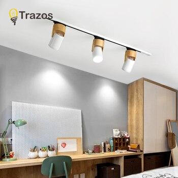 30W Led Track Light Lamp Black WhiteTrack Lighting Spot Lamps Lights Fixtures Spotlights 220V for shop clothing Store Home